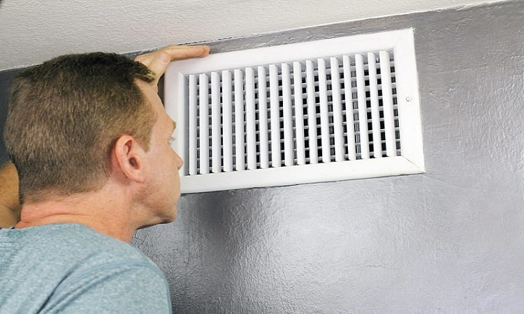 odor from heating ducts